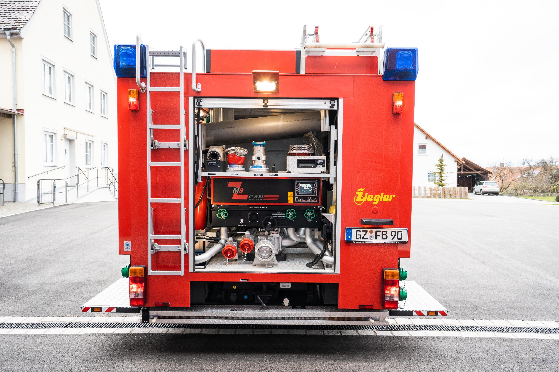 Löschgruppenfahrzeug LF 10/6 – Hinten
